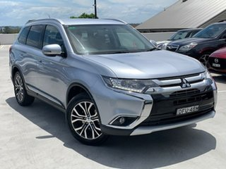 2016 Mitsubishi Outlander ZK MY16 LS 2WD Silver 6 Speed Constant Variable Wagon.