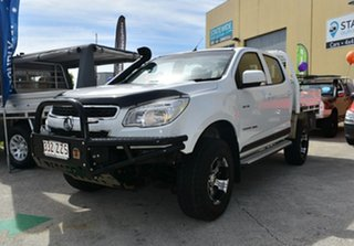 2013 Holden Colorado RG MY14 LT (4x4) White 6 Speed Automatic Crew Cab Pickup.