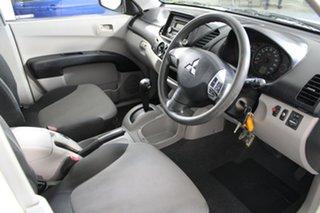 2010 Mitsubishi Triton MN MY10 GLX 4x2 White 4 Speed Automatic Cab Chassis