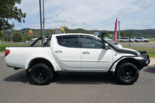 2014 Mitsubishi Triton MN MY15 GLX-R Double Cab White 5 Speed Sports Automatic Utility