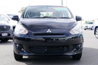2015 Mitsubishi Mirage LA MY15 ES Black/Grey 5 Speed Manual Hatchback.