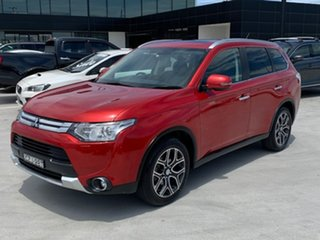 2014 Mitsubishi Outlander ZJ MY14.5 Aspire 4WD Red 6 Speed Constant Variable Wagon
