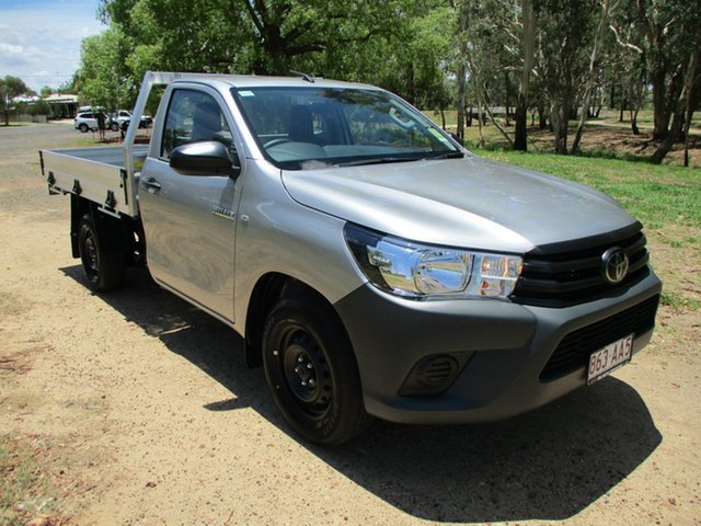 Demo Toyota Hilux TGN121R Workmate 4x2 Roma, 2020 Toyota Hilux TGN121R Workmate 4x2 Silver Sky 6 Speed Sports Automatic Cab Chassis