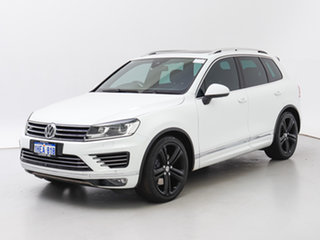 2016 Volkswagen Touareg 7P MY16 V8 TDI R-Line White 8 Speed Automatic Wagon.