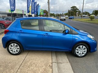 2016 Toyota Yaris NCP130R Ascent Blue 4 Speed Automatic Hatchback