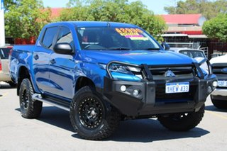 2019 Mitsubishi Triton MR MY19 GLX+ Double Cab Blue 6 Speed Manual Utility.