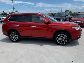 2014 Mitsubishi Outlander ZJ MY14.5 Aspire 4WD Red 6 Speed Constant Variable Wagon.