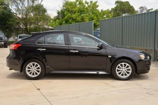 2012 Mitsubishi Lancer CJ MY13 LX Sportback Black 6 Speed Constant Variable Hatchback.