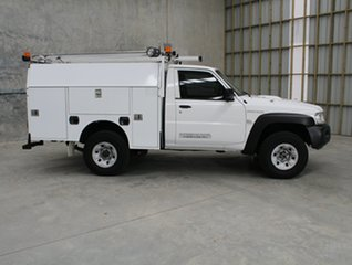 2015 Nissan Patrol Y61 Series 5 MY15 DX White 5 speed Manual Cab Chassis