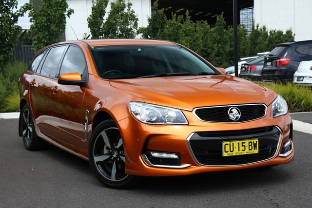 Used Holden Commodore VF II MY17 SV6 Sportwagon Essendon Fields, 2017 Holden Commodore VF II MY17 SV6 Sportwagon Orange 6 Speed Sports Automatic Wagon