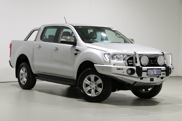 Used Ford Ranger PX MkIII MY19 XLT 3.2 (4x4) Bentley, 2018 Ford Ranger PX MkIII MY19 XLT 3.2 (4x4) Silver 6 Speed Automatic Double Cab Pick Up