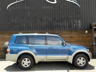 2000 Mitsubishi Pajero NM Exceed Blue 5 Speed Sports Automatic Wagon.