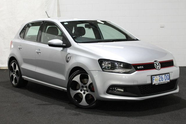 Used Volkswagen Polo 6R MY13.5 GTI DSG Glenorchy, 2013 Volkswagen Polo 6R MY13.5 GTI DSG Silver 7 Speed Sports Automatic Dual Clutch Hatchback