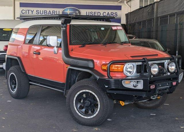 Used Toyota FJ Cruiser GSJ15R MY14 Victoria Park, 2014 Toyota FJ Cruiser GSJ15R MY14 Orange 5 Speed Automatic Wagon
