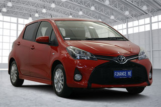 2014 Toyota Yaris NCP131R ZR Red 4 Speed Automatic Hatchback.
