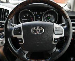 2012 Toyota Landcruiser VDJ200R MY12 Sahara White 6 Speed Automatic Wagon