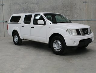 2012 Nissan Navara D40 S6 MY12 RX White 5 speed Automatic Utility.