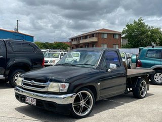 2004 Toyota Hilux RZN149R MY02 4x2 Black 5 Speed Manual Cab Chassis.