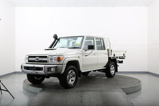 2020 Toyota Landcruiser VDJ79R GXL (4x4) White 5 Speed Manual Double Cab Chassis
