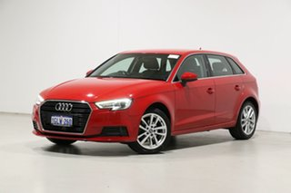 2016 Audi A3 8V MY17 1.4 TFSI Sportback CoD Red 7 Speed Auto S-Tronic Hatchback.
