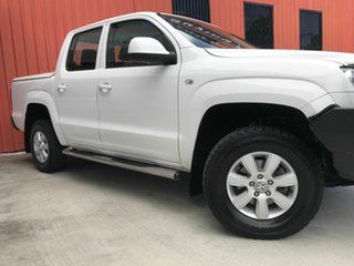 2012 Volkswagen Amarok 2H MY12 TDI400 4Mot Trendline White 6 Speed Manual Utility