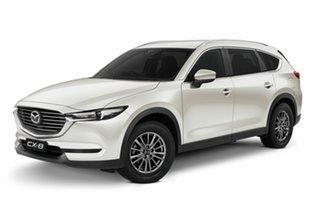 2020 Mazda CX-8 KG2WLA Sport SKYACTIV-Drive FWD Snowflake White Pearl 6 Speed Sports Automatic Wagon.