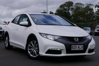 2013 Honda Civic 9th Gen MY13 VTi-S White 6 Speed Manual Hatchback.