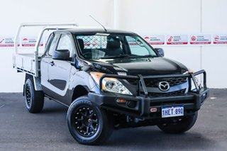 2012 Mazda BT-50 XT (4x4) Black 6 Speed Manual Freestyle Cab Chassis.