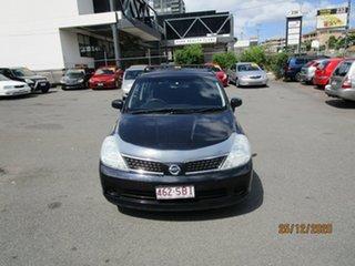 2006 Nissan Tiida C11 ST-L Black 6 Speed Manual Hatchback.