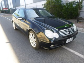 2003 Mercedes-Benz C-Class CL203 C180 Kompressor Sports Black Automatic Coupe.