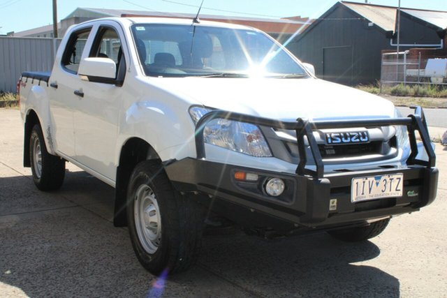 Used Isuzu D-MAX TF MY15 SX (4x4) West Footscray, 2016 Isuzu D-MAX TF MY15 SX (4x4) White 5 Speed Automatic Crew Cab Utility