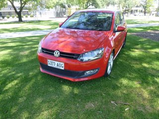2011 Volkswagen Polo 6R 77TSI Comfortline Red Manual Hatchback
