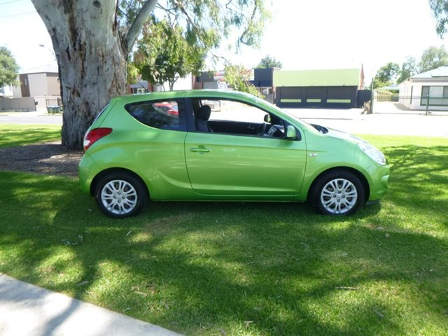 Used Hyundai i20 PB Active Beverley, 2012 Hyundai i20 PB Active Green Manual Hatchback