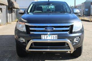 2012 Ford Ranger PX XLT 3.2 (4x4) Grey 6 Speed Automatic Dual Cab Utility.
