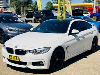 2014 BMW 4 Series F36 420d Gran Coupe M Sport White 8 Speed Sports Automatic Hatchback.