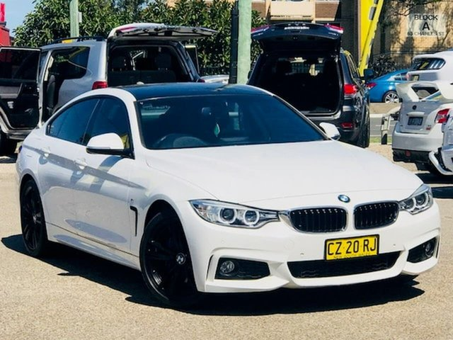 Used BMW 4 Series F36 420d Gran Coupe M Sport Liverpool, 2014 BMW 4 Series F36 420d Gran Coupe M Sport White 8 Speed Sports Automatic Hatchback