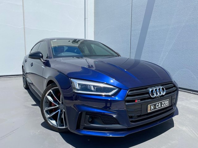 Used Audi S5 F5 MY18 Sportback Tiptronic Quattro Liverpool, 2017 Audi S5 F5 MY18 Sportback Tiptronic Quattro Blue 8 Speed Sports Automatic Hatchback