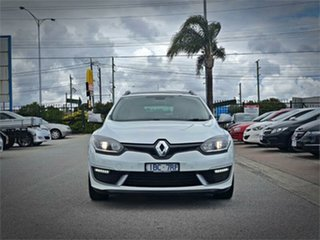 2014 Renault Megane III K95 Phase 2 GT-Line Premium White Sports Automatic Dual Clutch Wagon.