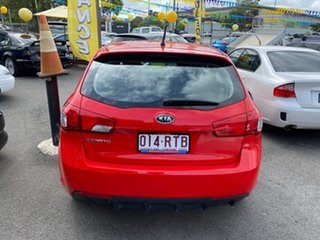 2011 Kia Cerato TD MY11 S Red 6 Speed Automatic Hatchback.