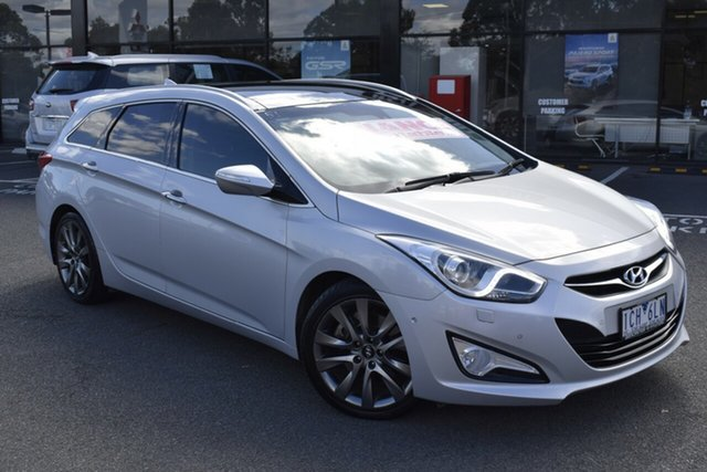 Used Hyundai i40 VF3 Premium Tourer Wantirna South, 2014 Hyundai i40 VF3 Premium Tourer Billet Silver 6 Speed Sports Automatic Wagon