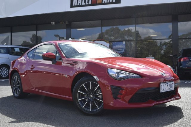 Used Toyota 86 ZN6 GT Wantirna South, 2018 Toyota 86 ZN6 GT Red/Black 6 Speed Manual Coupe