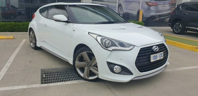 Used Hyundai Veloster FS3 SR Coupe Turbo Melton, 2014 Hyundai Veloster FS3 SR Coupe Turbo Crystal White 6 Speed Sports Automatic Hatchback