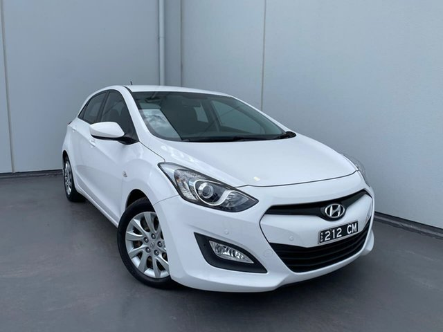 Used Hyundai i30 GD Active Liverpool, 2013 Hyundai i30 GD Active White 6 Speed Sports Automatic Hatchback