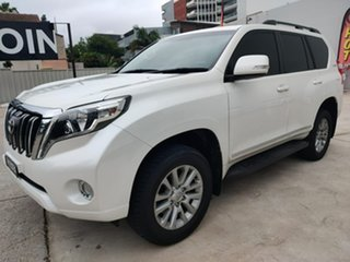 Toyota Landcruiser Prado Altitude White Sports Automatic Wagon.