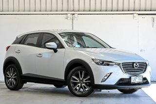 2016 Mazda CX-3 DK2W7A sTouring SKYACTIV-Drive White 6 Speed Sports Automatic Wagon.