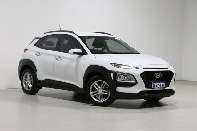 Used Hyundai Kona OS Active (FWD) Bentley, 2018 Hyundai Kona OS Active (FWD) White 6 Speed Automatic Wagon
