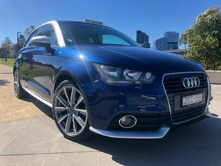 2012 Audi A1 8X MY12 Ambition S Tronic Blue 7 Speed Sports Automatic Dual Clutch Hatchback.