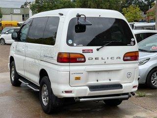 2000 Mitsubishi Delica PD8W White Automatic Van Wagon.