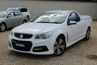 2014 Holden Ute VF MY15 SV6 White 6 Speed Manual Utility.