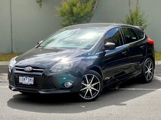 2014 Ford Focus LW MkII Sport PwrShift Black 6 Speed Sports Automatic Dual Clutch Hatchback.